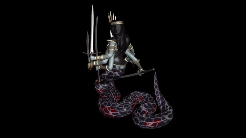 Blender - Heroes III Naga Queen Model 3D