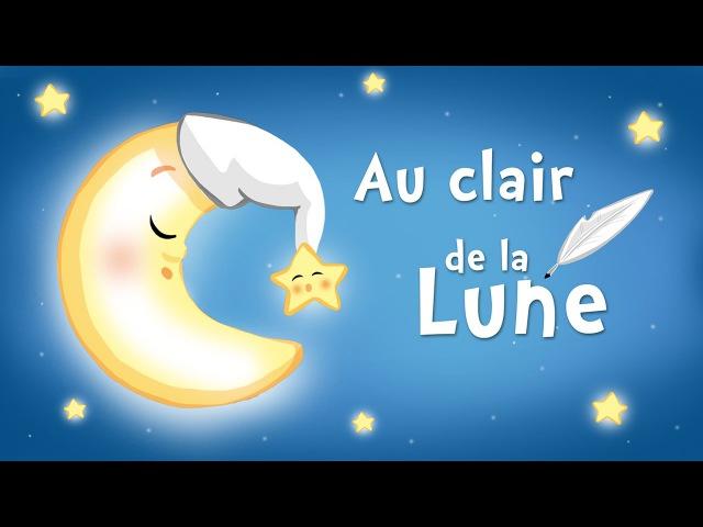 Au clair de la lune, mon ami Pierrot (comptine avec paroles)