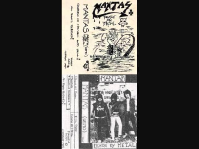 Mantas(Pre-DeathChuck Schuldiner)-Death By Metal RARE Full Demo!!(84)