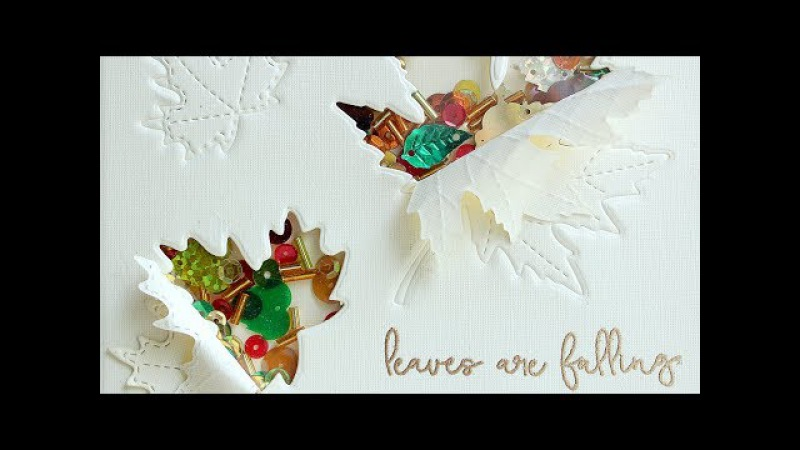 Falling Leaves - Shaker Easel Card