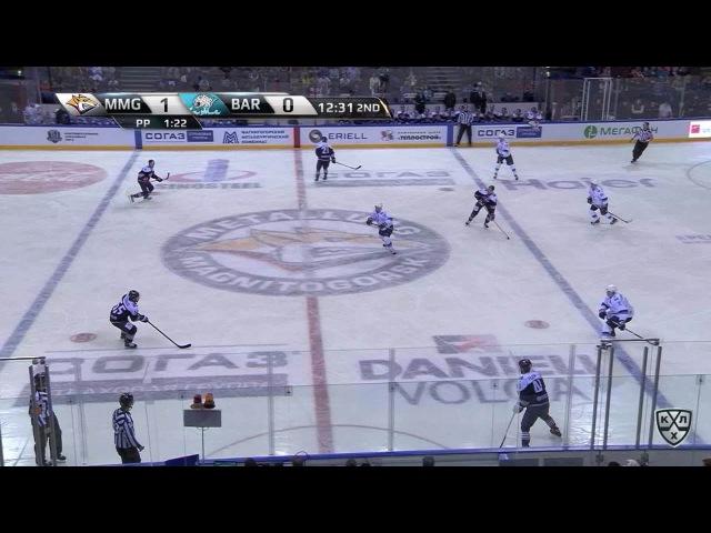 Моменты из матчей КХЛ сезона 16/17 • Гол. 2:0. Оскар Осала (Металлург) реализовал численное преимущество 03.09