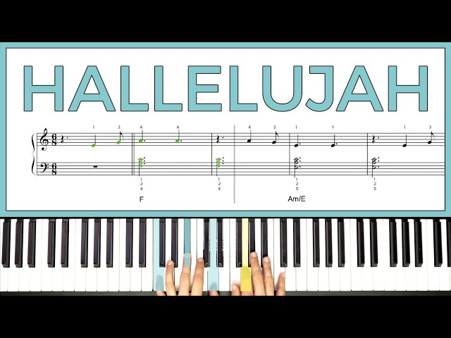 How to play 'HALLELUJAH' by Leonard Cohen on the piano -- Playground Sessions