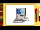 Как нарисовать МАК / Рисую старый Макинтош Apple Macintosh
