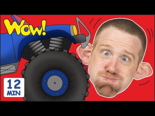 Monster Trucks Toys for Children MORE Stories for Kids Steve and Maggie by Wow English TV