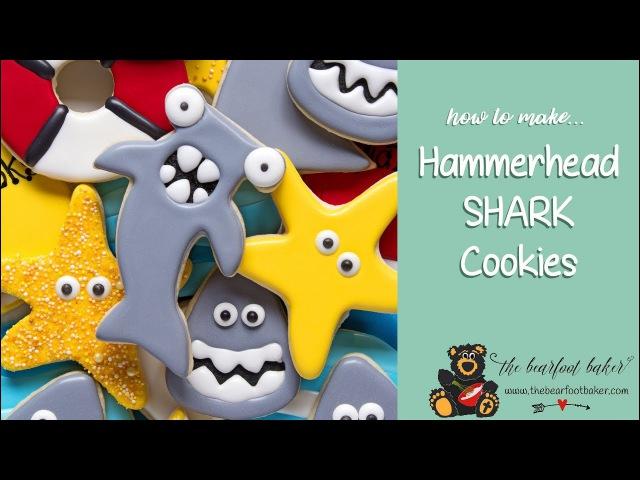 How to Make Hammerhead Shark Cookies | The Bearfoot Baker