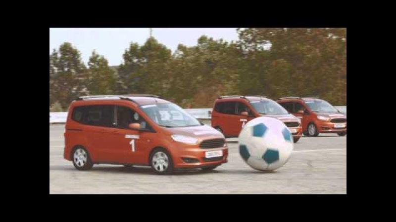 Arabalardan nefes kesen futbol maçı! - Yeni Ford Tourneo ve Transit Courier - Courierball