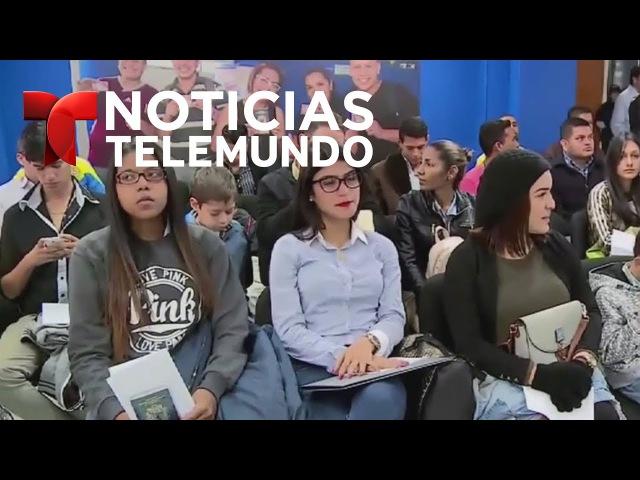 Venezolanos escapan masivamente a Perú Noticiero Telemundo