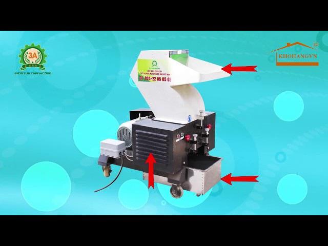 Máy nghiền nhựa cứng 3A5,5Kw - Giải pháp làm giàu hiệu quả tù phế liệu, phế thải