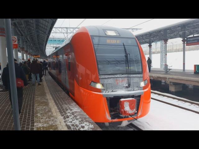 *Электропоезд ЭС2Г-075 Ласточка, отправляется в парк отстоя станции Андроновка