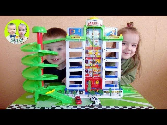 Денис и Виктория собирают парковку / Denis and Victoria collect parking!