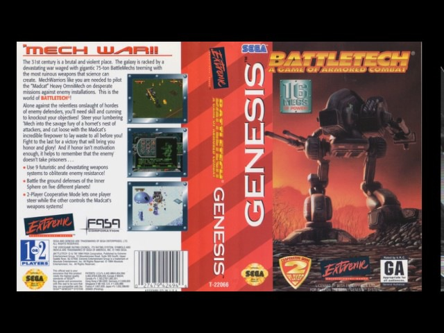 [NostalgiA] [SEGA Genesis] Battletech A Game of Armored Combat - Full Original Soundtrack OST