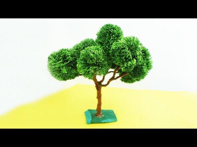 DIY Miniature Paper Tree | TCraft