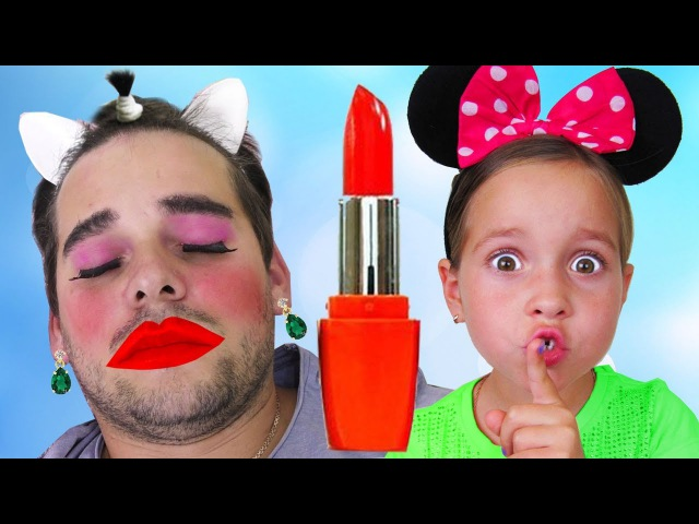 Bad Daddy with Tantrum and Crying Little Babies video ,Learn Colors with Lipstick Finger Family song