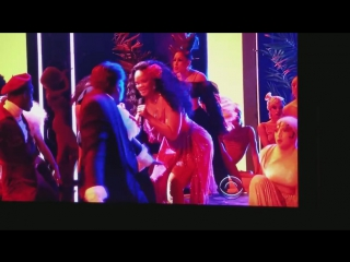 Rihanna and DJ Khaled and Bryson at the 2018 Grammys