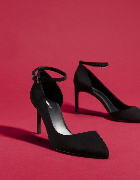 Туфли на каблуке, с ремешком на щиколотке