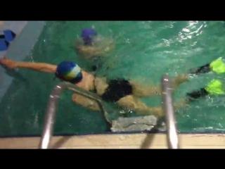 плавание вольным стилем Лиля Бибишева,тренер Рахимова Алина