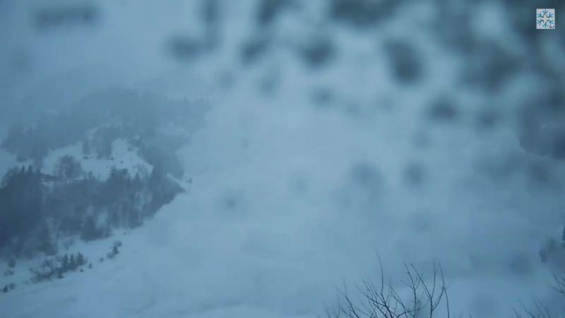 Снежная лавина в кантоне Вале ( Швейцария, 17.01.2018)