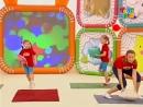 Прыг-скок команда Разминка с подушкой