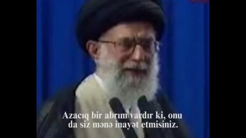 Ayatullah Əli Xamneyi cənabları .Çox təsirli