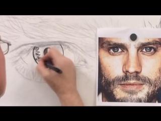 Drawing Jamie Dornan (Portrait)