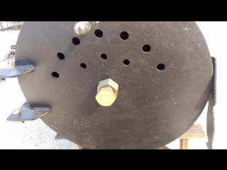 Печь буржуйка из газового баллона с вторичным дожигом