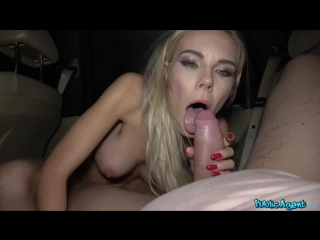 [publicagent.com / fakehub.com] florane russell - fucked in car and cum on her tits (02.01.2018) [2018 г.,public sex, amateur]
