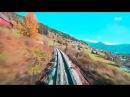 Головокружительные виды из кабины машиниста поезда 4 сезона
