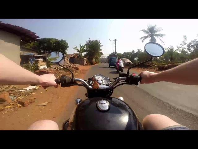 India Morjim beach moto