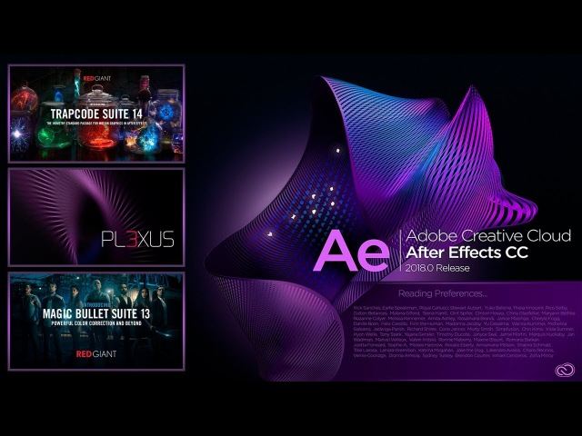 PLUGINS-AFTER EFFECTS 2018 (informational purposes))