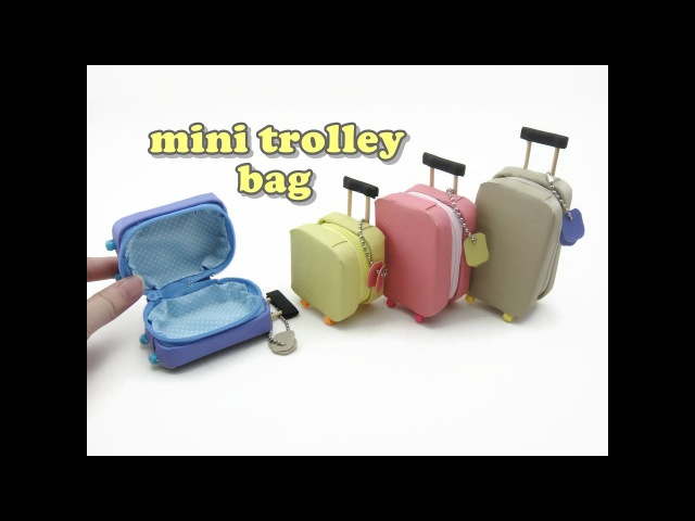 DIY Doll Accessories Mini Trolley Bag with Zipper