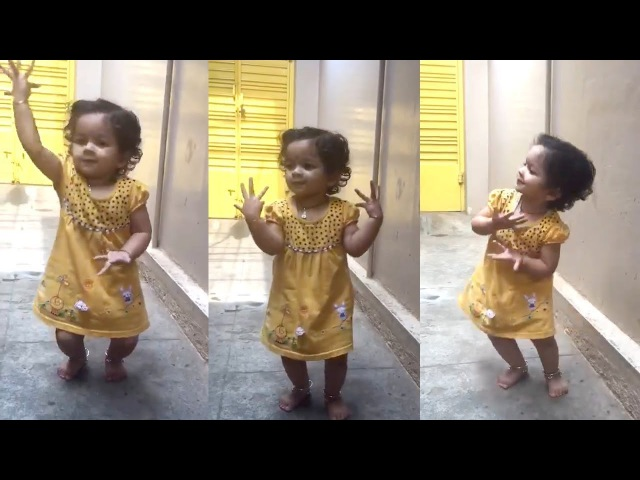 2Years Old Cute Little Baby Classical Dance Bharatanatyam