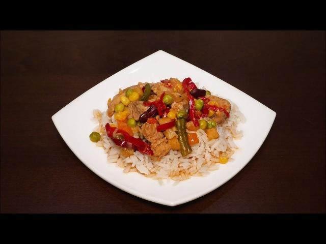 ♨️Вкусное мясо с овощами в мультиварке 🥩 Простой рецепт вкусного мяса рецепты для мультиварки  еда
