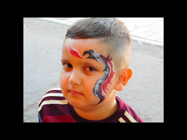 Аквагрим дракон / Face painting dragon