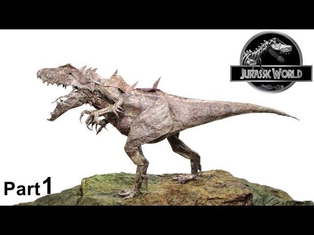 Origami Indominus Rex tutorial (Jason Ku) part 1 折り紙 インドミナス レックス 恐竜 dinosaur Jurassic World