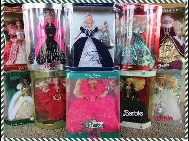 MY HOLIDAY BARBIE DOLL COLLECTION 1990-1999