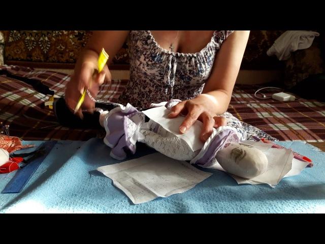 Учимся шить куклу вместе. Часть 17. Строим выкройку для жилеткивыкраиваем на ткани