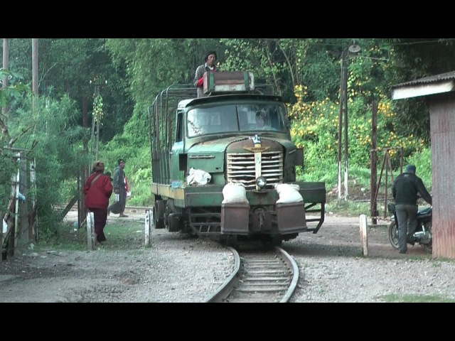 Burma Mines Railway, Railtruck to Namtu, Myanmar