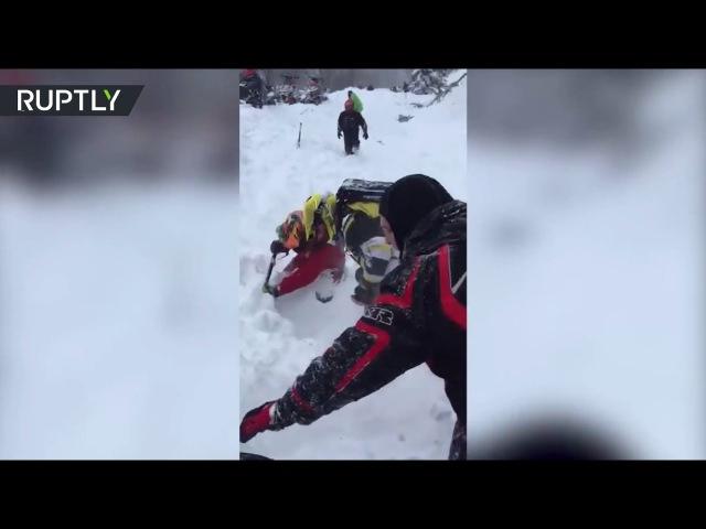Выживший при сходе лавины в Хакасии турист рассказал о трагедии