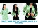 DIY Convert Mens Shirt Into Bomber Jacket In 10 Minutes