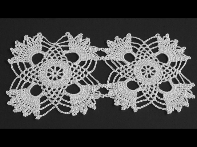 Çeyizlik Tığ işi Örgü Dantel Motifi Yapımı Crochet