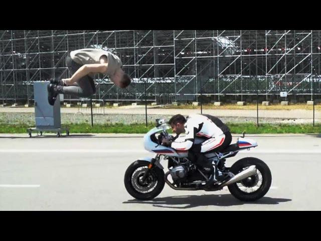 Сальто Через Мотоцикл. Церемония Муз Тв. Новая BMW i8.