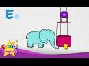 E is for Egg, Elephant, Elevator - Letter E - Alphabet Song | Learning English for kids