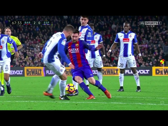 Lionel Messi dribbling masterclass | Barcelona vs Espanyol [4-1], December 2016 | HQ