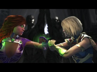 Injustice 2 : Starfire Vs Supergirl & Power girl - All Intro/Outros, Clash Dialogues, Super Moves
