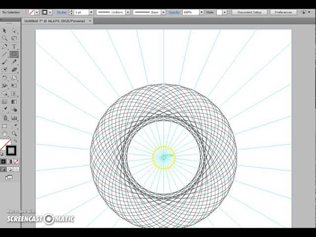 Как быстро делать гильоши и спирографы в Adobe Illustrator