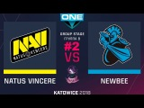 NaVi vs NewBee RU #2 (bo3) ESL One Katowice 2018 Major Group B 21.02.2018