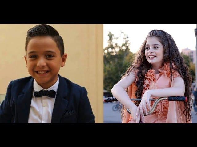 Gianluca (JESC 2017 l Malta) and Betty (JESC 2014 l Armenia)