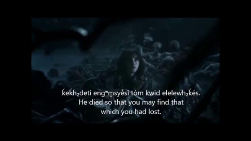 Bran Stark meets the Three Eyed Raven in Proto Indo European