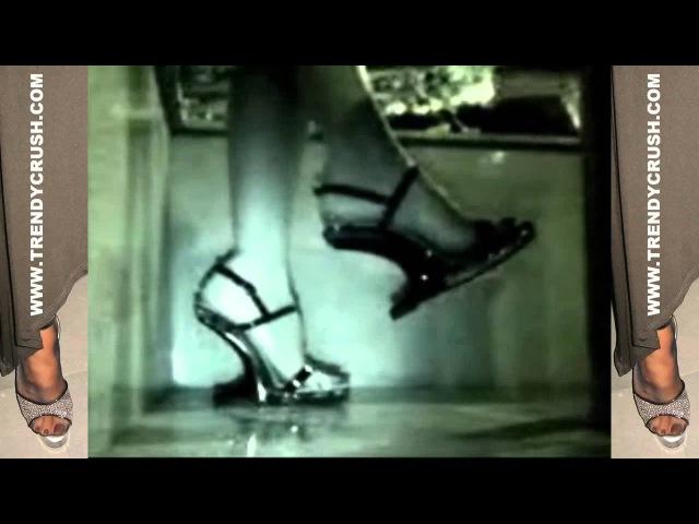 Candid camera infrared High Heels turn off Cigarette Sandals 020v T12 Black Enamel (1)
