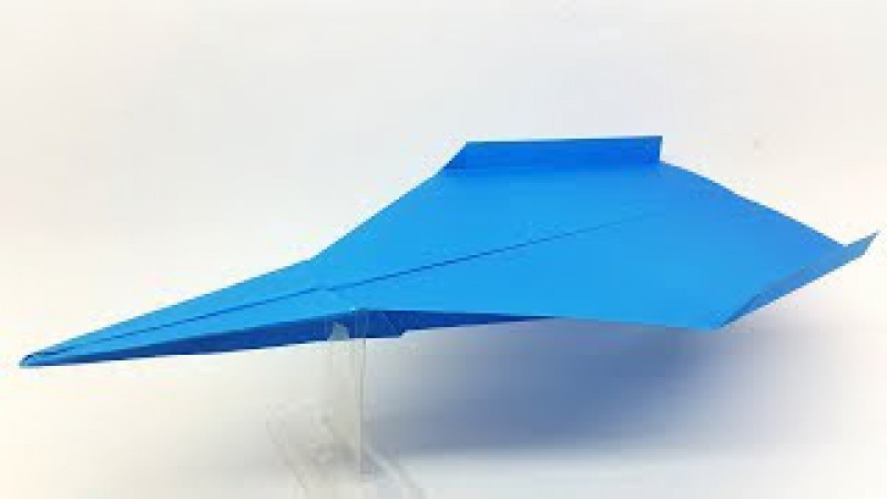 How to fold the world record Paper Airplane   BEST Paper Planes   Origami Paper Jet